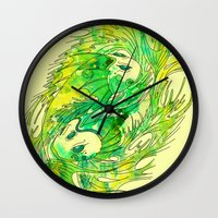 pisces Wall Clocks featuring pisces by Steven Toang