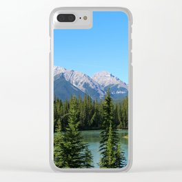 Along The Bow Valley Parkway Clear iPhone Case