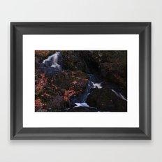 Waterfall Wyandotte Falls, MI Framed Art Print
