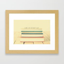 A book a day... Framed Art Print