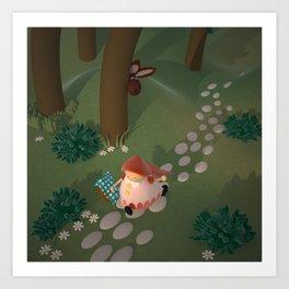 Caperucita. Little Red Riding Hood Art Print