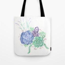 Botanical Succulents Tote Bag