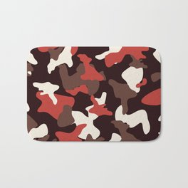 Red camo camouflage army pattern Bath Mat