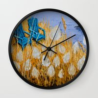 couple Wall Clocks featuring COUPLE by Olga Krokhicheva