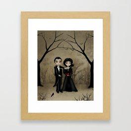 Dark Gothic Romance Betrothed Framed Art Print