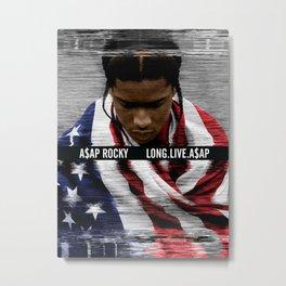 Long Live A$AP Rocky Fanmade Artwork Metal Print