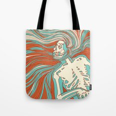 Skeleton Girl Tote Bag