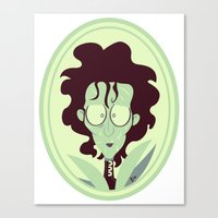 edward scissorhands Canvas Prints featuring Edward Scissorhands by Bauimation