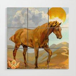 Sun King Stallion Wood Wall Art