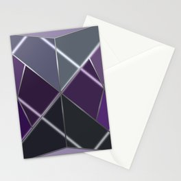 Mosaic tiled glass with a laser show Stationery Cards