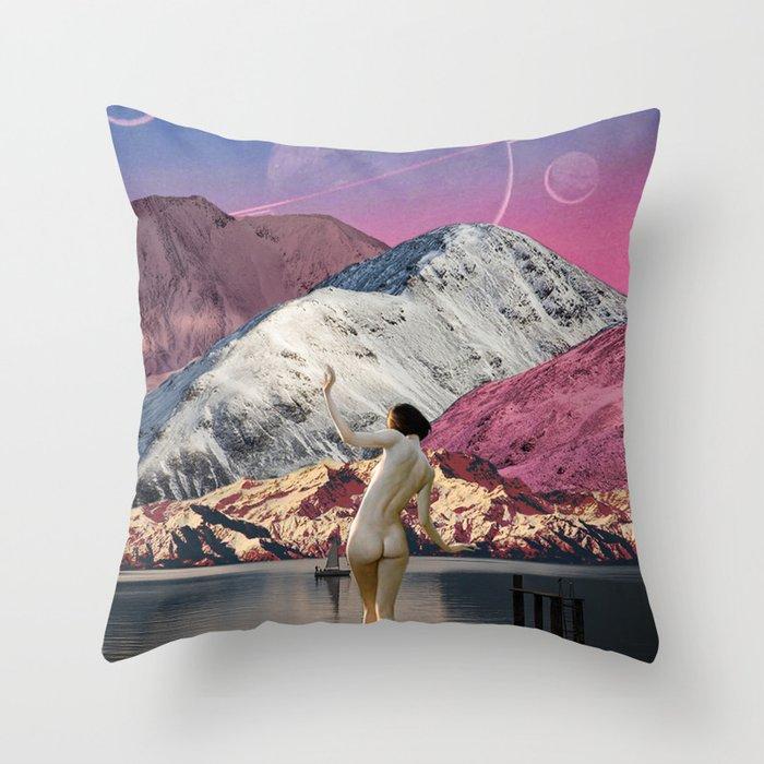 Bather Throw Pillow