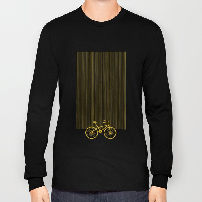 Yellow Bike by Friztin Long Sleeve T-shirt