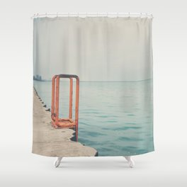 the orange steps ... Shower Curtain