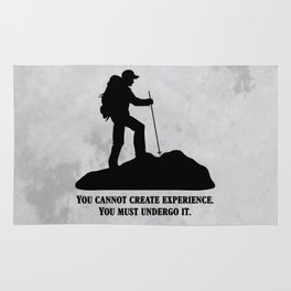Albert Camus - You Cannot Create Experience Rug