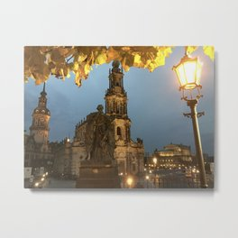 Dresden city night Metal Print