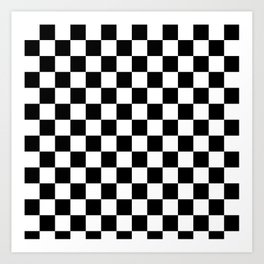 black checkered pattern Art Print