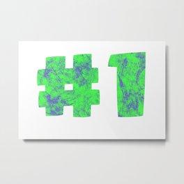 NUMBER 1 (GREEN) Metal Print