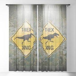 T-Rex Crossing Sheer Curtain