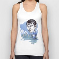 spock Tank Tops featuring spock by ElenaTerrin