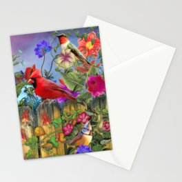 Birds and Blooms Stationery Cards