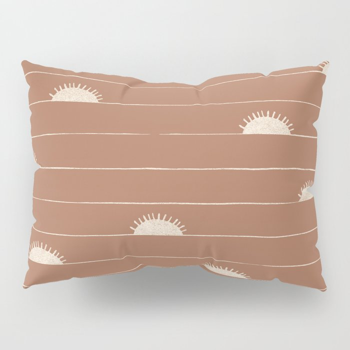 Horizon Line in Clay and Ivory Pillow Sham