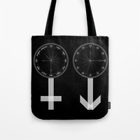 sex and the city Tote Bags featuring Sex by Andreas Brepp