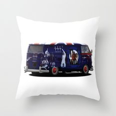 vw campervan The magic bus Throw Pillow
