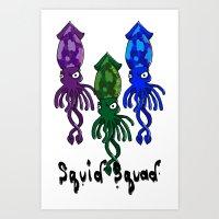 Team SquidSquad  Art Print
