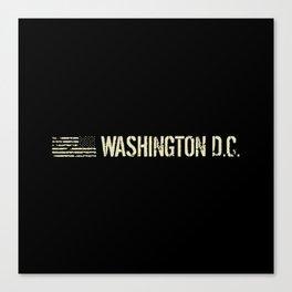 Washington D.C.: Black Flag Canvas Print