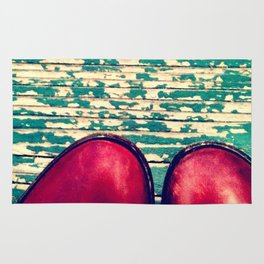 Red Boots and Possibilities Rug