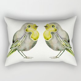 Little Yellow Birds Rectangular Pillow