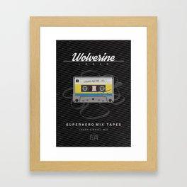Superhero Mix Tapes -  Logan Framed Art Print