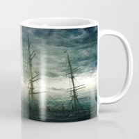 sailboat Mugs featuring Sailboat by Fine2art