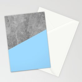Geometry 101 Blue Raspberry Stationery Cards