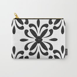 Contrast Pattern Carry-All Pouch