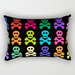 Colorful Pirate Skulls Rectangular Pillow