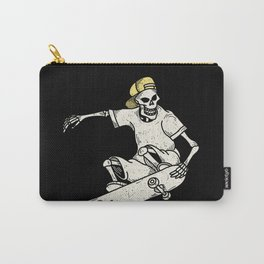 Vintage Skateboarding Skeleton Carry-All Pouch