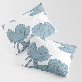 Roses in Blue Pillow Sham