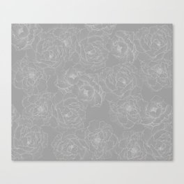 Peony Flower Pattern II Canvas Print