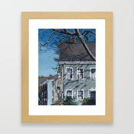 Sunshine on Antique Homes Framed Art Print