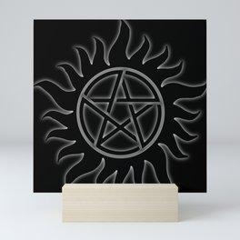 Anti Possession Sigil White Glow Mini Art Print