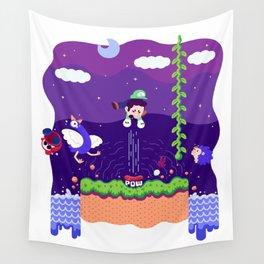 Tiny Worlds - Super Mario Bros. 2: Luigi Wall Tapestry