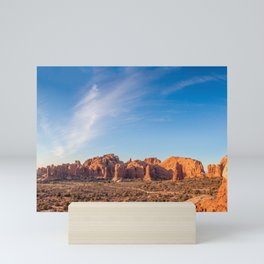 Natural Monuments Panorama in Arches National Park Mini Art Print