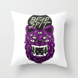 Bear Spit Throw Pillow