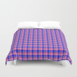 Pink Blue Scottish Tartan Duvet Cover