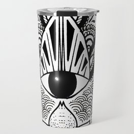 """The Hand of Fatima"",""Hand of Miriam"" with Eye of Horus, an ancient strong Symbol for Protection and Travel Mug"