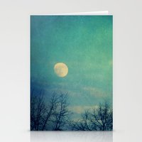 ice Stationery Cards featuring Ice Moon by Claudia Drossert
