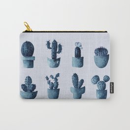 One cactus six cacti in indigo blue Carry-All Pouch