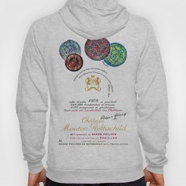 Vintage 1978 Chateau Mouton-Rothschild Wine Bottle Label Print Hoody