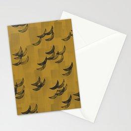 Solar eclipse shadows // mustard Stationery Cards